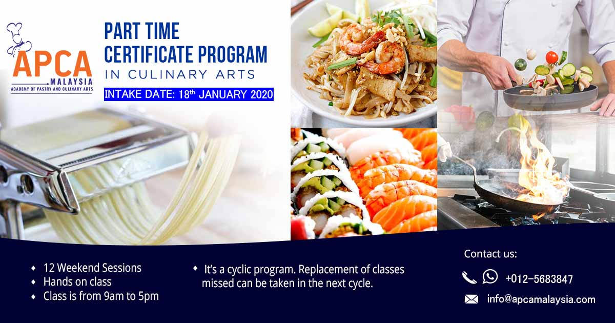 Culinary Part Time Academy Of Pastry Culinary Arts Malaysia